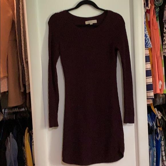 LOFT Dresses & Skirts - Burgundy Sweater Dress